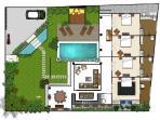 Floor plan for Villa Suku