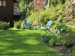Garden relaxing.