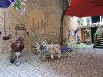 Barbecue in the private courtyard