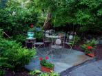 Patio in front garden.