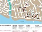 Area map - 3 blocks from beach no hills to climb, best area of town for restaurants, nightlife, boutiques, galeries...
