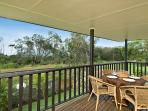 Covered deck Villa 1