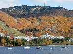 Mont-Tremblant Pedestrian Village & Lake in the Fall
