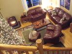 COZY  UP TO THE PELLET STOVE IN THE LIVING ROOM DURING WINTER HOLIDAYS