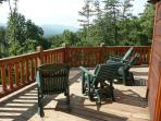 You could be sitting in these chairs enjoying this beautiful view if you ere t Tuckaway Ridge!