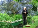 Tom our gardener creating garden magic