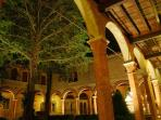 The cloister by-night