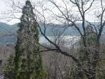 Zoomed in view of Lake Arrowhead from the upper deck