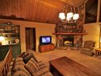 Family room with 50' LG flat screen TV