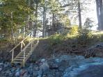 Stairs from Lamb Cove to the beach