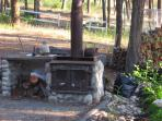 wooden stove/oven