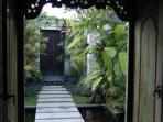 Balinese antique front door