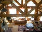 Vaulted Ceilings and Timber Accents in the Living Room