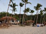 The mobile restaurant at Honeymoon Beach.