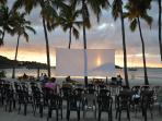 Movie night! Mondays at sunset.