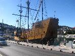 Exact replica of famous Dubrovnik sailing ship of the past made by exact blueprints, it is used nowa