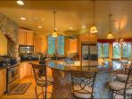 Gourmet Kitchen with a Breakfast Bar
