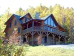 5 BR, 4.5 Bath Mountain Log Home with Great Views