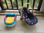 Toilet trainer and baby seat
