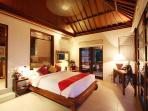 Bedroom in the evening