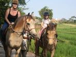 Outside activities re horseriding