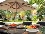 You can get great food from our partner restaurant delivered to the villa
