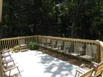 Large deck for outdoor gatherings