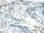 Beech Mountain Ski Slope Map - Just 2 miles away!