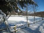 Coffey Lake split-rail fence after 2-foot snow