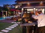 In villa Chef with Special BBQ menu available