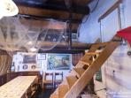 dining room/living/mezzanine bedroom