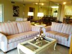Living area with the sleeper sofa