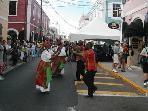 Street festival in town