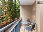 St Kilda Serviced Apartment north-facing balcony for winter warmth