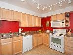 The Bright, Colorful Kitchen Is Well-Equipped And Will Delight the Ambitious Cook