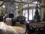 Private Great Room w/ 100 yr old beams