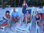 Gathering on West Bay Beach