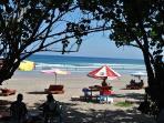 A 10 minute walk to legian Beach