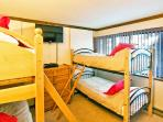 Fourth Bedroom With Two Sets of Twin over Twin Bunkbeds