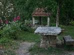 Picnic at the hidden public garden out back.