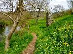 An April walk along the river.