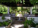 Fountains in the subtropical garden