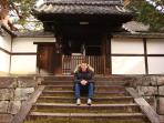 The owner, Curtis, at Kenninji Temple, next door