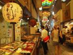 Nishiki Market place: 15 min by bus
