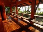 Upper floor balcony over looking Caribbean ocean