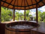 Western red cedar hot tub