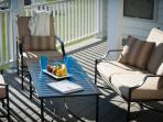 Deck with Umbrella & Comfortable Seating