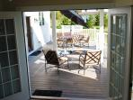 French Doors from the 1'st Floor Bedroom to the Deck