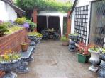 Enclosed patio area