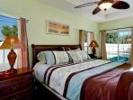 Master Bedroom, king bed, private access to pool